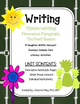 Opinion Writing - Persuasive Paragraph: The Best Season {J