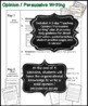 Opinion Writing | Persuasive & Argumentative Writing | Graphic Organizer