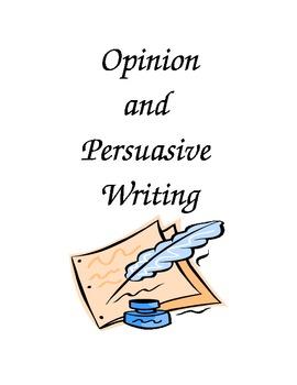 Opinion Writing Persuasive Writing organizational chart and model