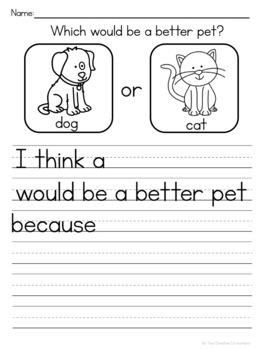 Opinion Writing: Pets