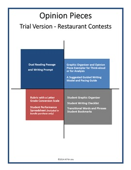 Opinion Writing Pieces - Restaurant Contests