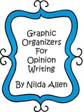 Opinion Writing Planning Sheet