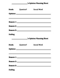 Opinion Writing Planning Sheet