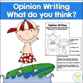 Opinion Writing Prompt Pool or Beach Day