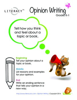 Opinion Writing Poster K-1
