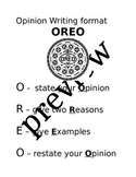 Opinion Writing Poster: OREO