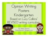 Opinion Writing Posters - Kindergarten