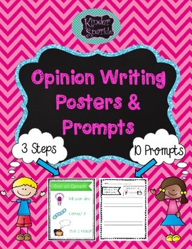 Opinion Writing Posters and Prompts