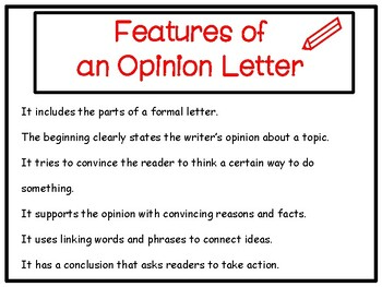 Opinion Writing Power Point Presentation