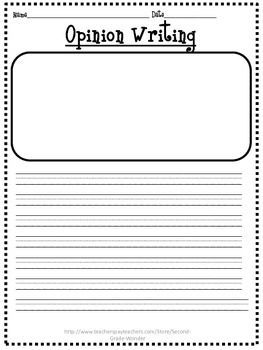 Opinion Writing Primary Printable