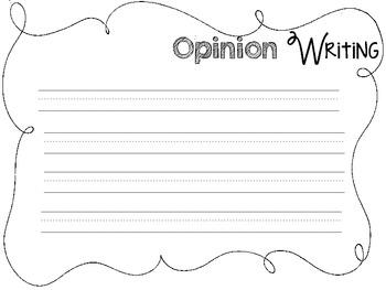 Opinion Writing Printables {FREE}