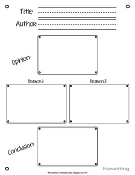 Opinion Writing Process Packet