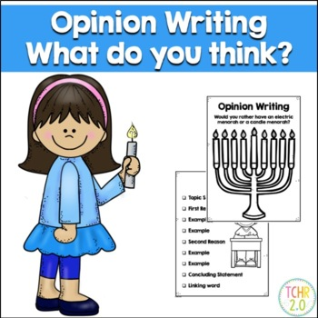 Opinion Writing Hanukkah Chanukah Menorah