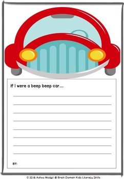 Writing  Prompt: If I were a Beep Beep Car . . .