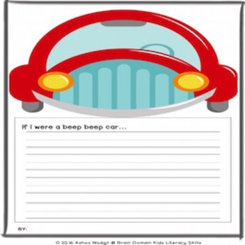 Opinion Writing  Prompt: If I were a Beep Beep Car . . .