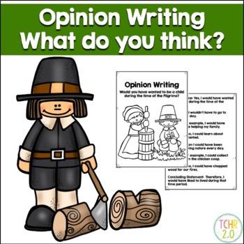 Opinion Writing Prompt Pilgrims Thanksgiving