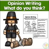Opinion Writing Pilgrims Thanksgiving