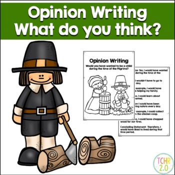 Opinion Writing Prompt Pilgrims Thanksgiving