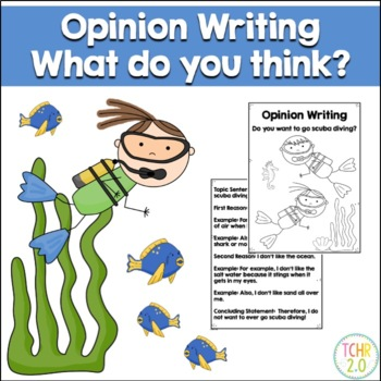 Opinion Writing Prompt Scuba Diving Summer