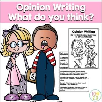 Opinion Writing Prompt Sleepovers
