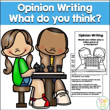 Opinion Writing Prompt Real Games vs Video Games