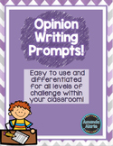 Opinion Writing Prompts Differentiated!