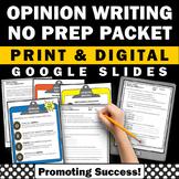 OREO Graphic Organizer Opinion Writing Prompts Google Classroom Slides Digital