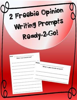 Opinion Writing Prompts Freebie