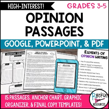 Opinion Writing Prompts- Opinion Writing Passages