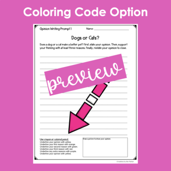 Opinion Writing Prompts- 10 Prompts Ready to Print and Write!