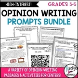 Opinion Writing Prompts with Passages and Lists Bundle