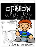Opinion Writing Prompts (first grade) Ready to Print