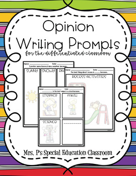 Opinion Writing Prompts for the Differentiated Classroom