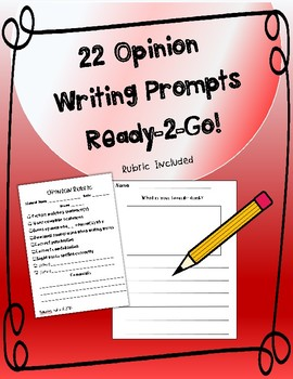 Opinion Writing Prompts with Picture