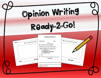 Opinion Writing Prompts with Sentence Frames