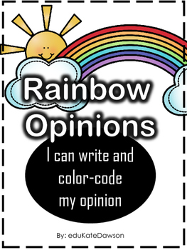 Opinion Writing: Rainbow Color Code