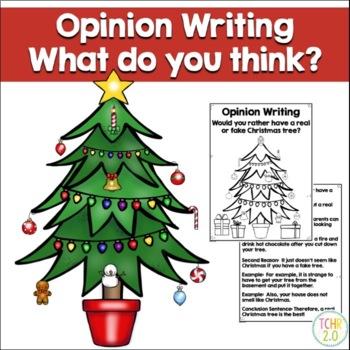 Opinion Writing Prompt Real vs Fake Christmas Tree