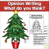Opinion Writing Real vs Fake Christmas Tree