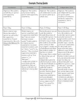 Opinion Writing Resource