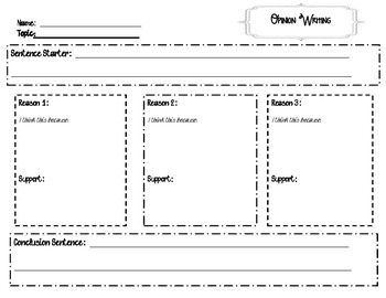 Opinion Writing Resource Packet