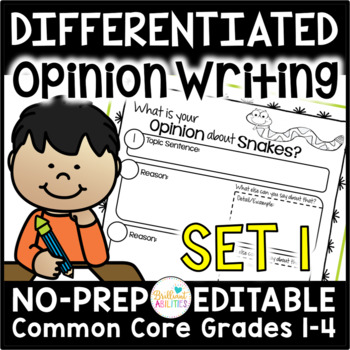 Opinion Writing Resources for Differentiation & Scaffolding: Set 1 Decisions