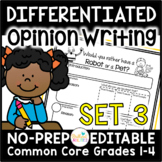 Opinion Writing Resources for Differentiation & Scaffolding: Set 3 Preferences