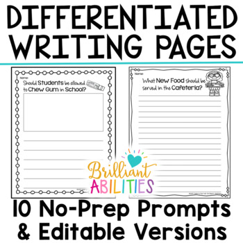 Opinion Writing Resources for Differentiation & Scaffolding: Set 4 Persuasive