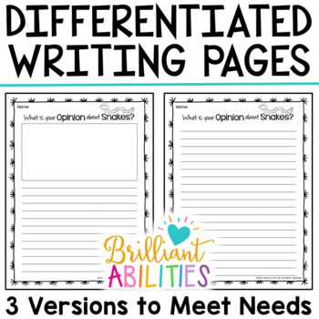 Opinion Writing Resources for Differentiation & Scaffolding FREEBIE SAMPLER