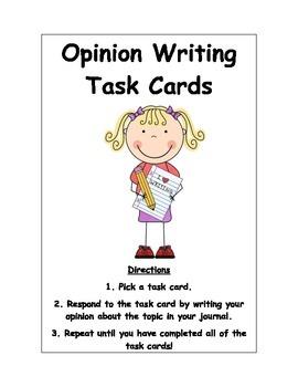 Opinion Writing Response Task Cards