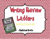 Opinion Writing Review Ladder - Zebra Theme