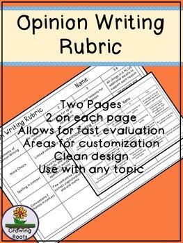 Opinion Writing Rubric