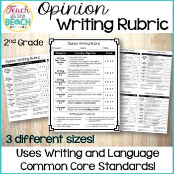 Opinion Writing Rubric Worksheets Teachers Pay Teachers