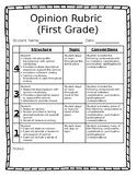 Opinion Writing Rubric - First Grade