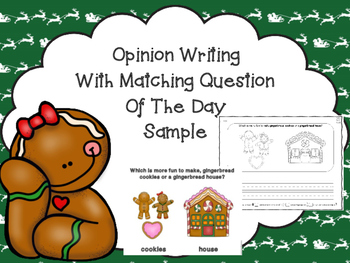 Opinion Writing Sample with Matching Question Of The Day -Free